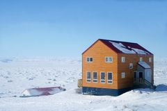Canadian Arctic House Stock Photography