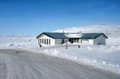 Canadian Arctic House. A house in the Apex region of Iqaluit, Nunavut, Canda Stock Photos