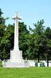 Canadian Armed Forces Memorial at Arlington Cemetery. A memorial consisting of a stone cross inlayed with a bronze sword stands at Arlington National Cemetery in Stock Image