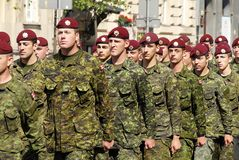 Canadian Army in Polish Armed Forces Day Royalty Free Stock Photos