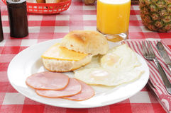 Canadian bacon breakfast Royalty Free Stock Photos