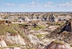 The Canadian Badlands of Drumheller, Alberta Stock Photography