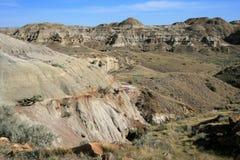 Canadian Badlands Landscape Royalty Free Stock Photos