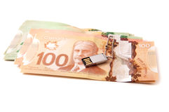 Canadian bank notes Stock Photo