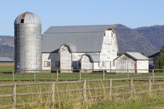 Canadian Barn and Silo Royalty Free Stock Photography