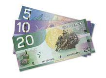 Canadian bills Royalty Free Stock Image
