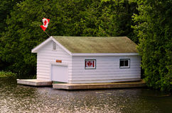 Canadian Boathouse Stock Photo