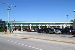 Canadian border crossing Stock Photos