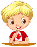Canadian boy with blond hair Royalty Free Stock Images