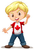 Canadian boy standing alone Stock Photography