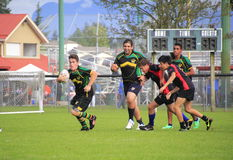 Canadian Boys Rugby Match Royalty Free Stock Photo
