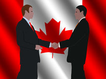 Canadian business men meeting Royalty Free Stock Photos