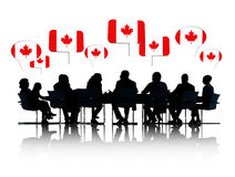 Canadian Business People Having a Meeting Royalty Free Stock Images