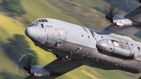 Canadian C130 Hercules in flight stock photos