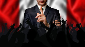 Canadian candidate speaks to the people crowd Royalty Free Stock Images