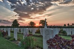Canadian cemetery Royalty Free Stock Image