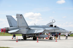 Canadian CF-18 Fighter royalty free stock photography
