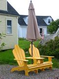 Canadian chair. Relax - Canadian chair - Peggy's cove Stock Photography