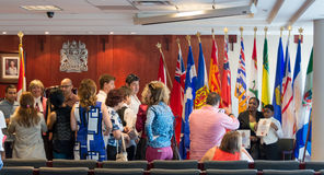 Canadian Citizenship Ceremony Royalty Free Stock Photo