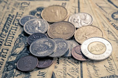 Canadian coins Royalty Free Stock Images