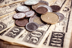 Canadian coins Royalty Free Stock Photo