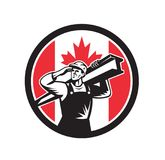 Canadian Construction Worker Canada Flag Icon Royalty Free Stock Image
