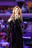 Canadian country singer and songwriter Shania Twain performs at 2017 US Open opening night ceremony. NEW YORK - AUGUST 28, 2017: Canadian country singer and Royalty Free Stock Photography