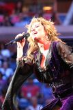 Canadian country singer and songwriter Shania Twain performs at 2017 US Open opening night ceremony. NEW YORK - AUGUST 28, 2017: Canadian country singer and Stock Photo