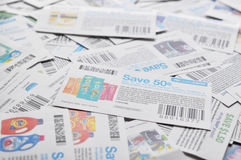Canadian coupons background. All coupons for Canadian store, they are issued by Royalty Free Stock Image