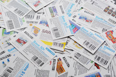Canadian coupons background. Royalty Free Stock Images