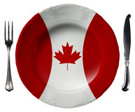 Canadian Cuisine - Plate and Cutlery Royalty Free Stock Image