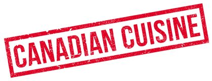 Canadian Cuisine rubber stamp Stock Photography