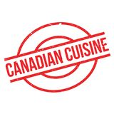 Canadian Cuisine rubber stamp Stock Image