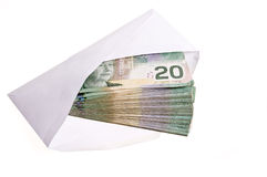 Canadian currency. On the white background Stock Images