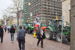 Canadian Dairy Farmers Protest Royalty Free Stock Images