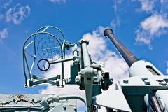 Canadian Destroyer Anti Aircraft Gun Royalty Free Stock Image