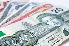 Canadian Dollar. Close up Photograph of a Canadian Twenty Dollar Banknote Stock Photo