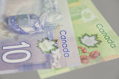 Canadian dollar banknotes Stock Images