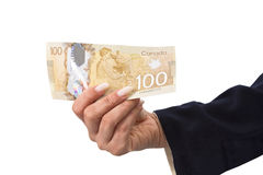 Canadian dollar banknotes Royalty Free Stock Images