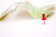20 Canadian Dollar Bill. On white background Royalty Free Stock Photo