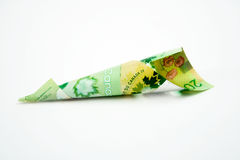 20 Canadian Dollar Bill. On white background Royalty Free Stock Photos