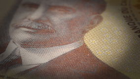 Canadian Dollar Close-up Stock Photos