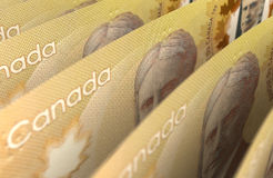 Canadian Dollar Closeup Stock Photos