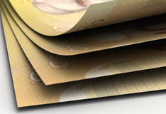 Canadian Dollar Closeup Stock Photography