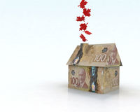 Canadian dollar house Royalty Free Stock Photo