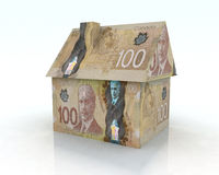 Canadian dollar house Stock Photos