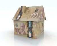 Canadian dollar house Stock Photos