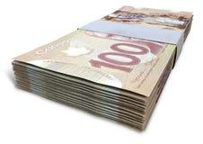 Canadian Dollar Notes Bundles Royalty Free Stock Images