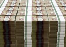 Canadian Dollar Notes Bundles Stack Stock Image
