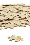 Canadian dollar and  puzzle Stock Image